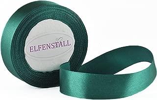 Elfenstall Satinband Geschenkband Schleifenband Dekoband 25 mm, 25 Yards ca. 22 Meter in der Farbe grün dunkelgrün
