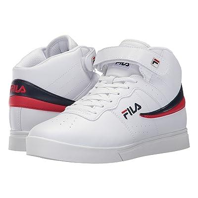 Fila Vulc 13 Mid Plus (White/Fila Navy/Fila Red) Men