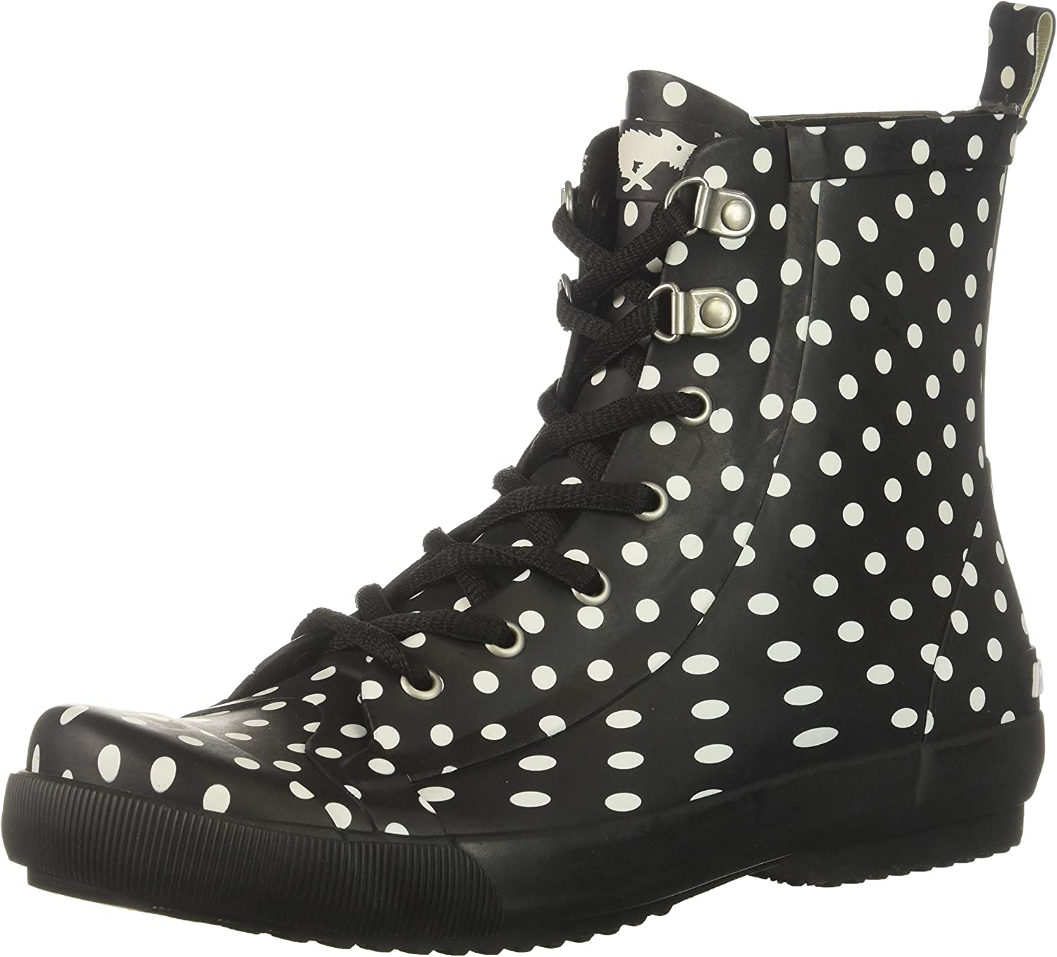 Rocket Dog Womens Rainy Rubber W Off White Dot Printed Rain Boot