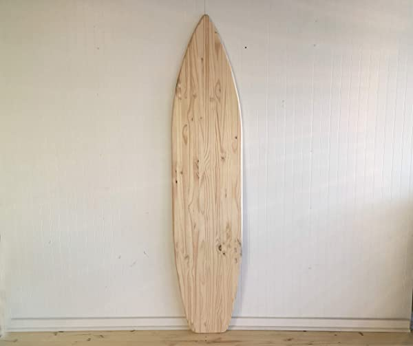 6 Foot Wood Surfboard Wall Art Unfinished Raw Wood