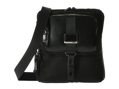 Tumi Alpha Bravo Arnold Zip Flap (Black) Messenger Bags