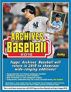 2018 Topps Archives Baseball Hobby Edition Factory Sealed 24 Pack Box - Baseball Player Sets