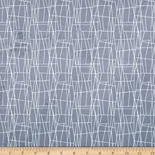 Michael Miller Minky Sassy Cats Atomic Web Grey Fabric by The Yard