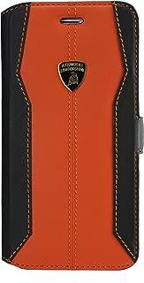 Lamborghini Huracan-D1 Leather Ultra Slim Flip Case for iPhone 7 (Orange)