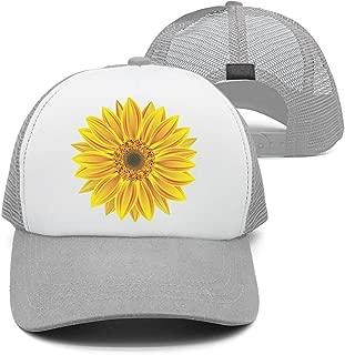 Classic Caps 3 Yellow Tropical Sunflowers Flowers Unisex Adjustable mesh Strapback Hat