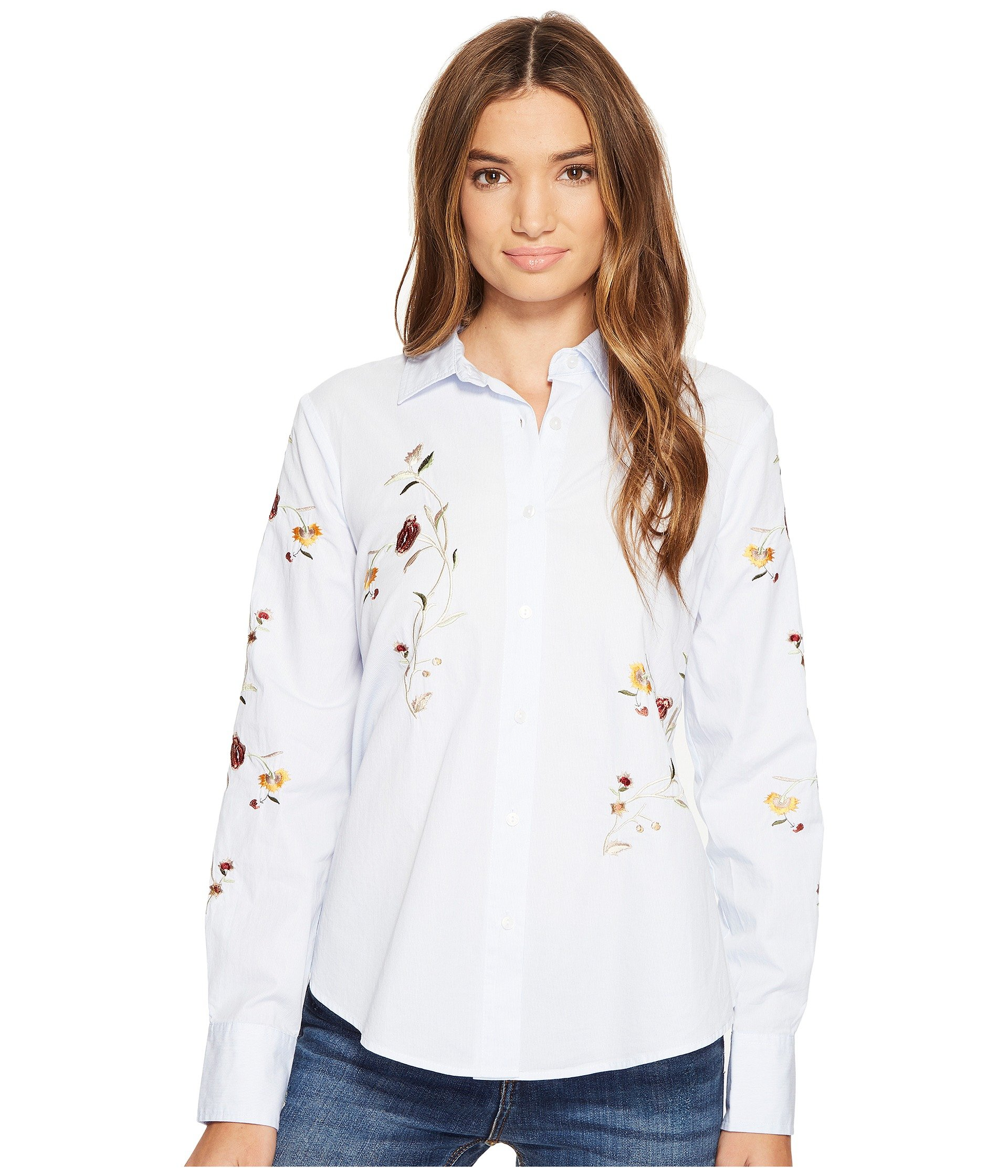 Blank nyc embroidered shirt in in bloom at 6pm for Blank polo shirts for embroidery
