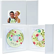 Supreme Double CD/DVD Holder - Holds 2 Discs (White)