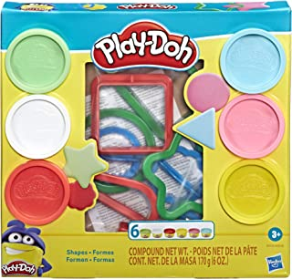 Hasbro Play-Doh Fundamentals - 9 Shape Tools plus 6 Colors of Play Dough