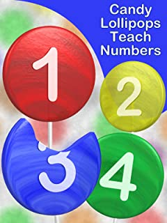 Candy Lollipops Teach Numbers