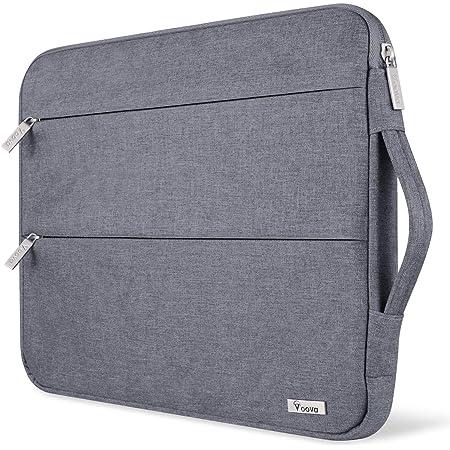 Voova 14-15.6 Pulgadas Funda para Portátil con Asa, Impermeable Maletín Ordenador Compatible con Macbook Pro 15/16, Surface Laptop 3 15, DELL XPS 15, HP Pavilion, Lenovo Acer ASUS Chromebook, Gris