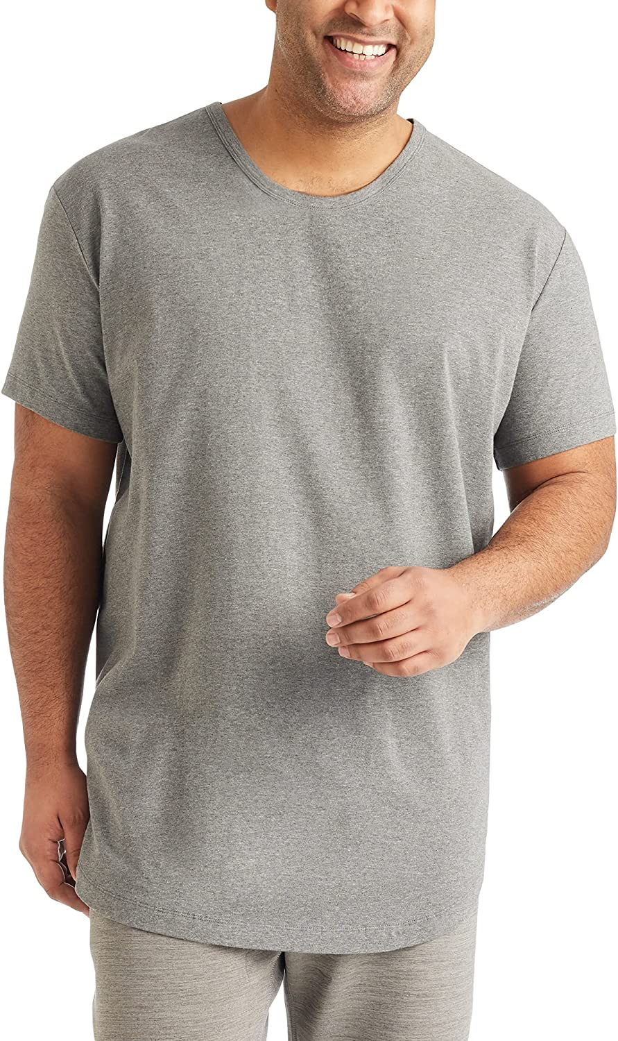 STRONGSIDE Men's T-Shirts – Big and Tall Shirts for Men – Longer Length Stretch Tee