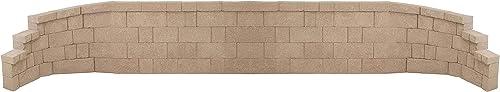 Fiberbloxx 4-Piece Fiberglass Landscape Retaining Wall - (2) 5-Foot Straight Panels and (1) 57-Inch Left Curve Panel and (1) 57-Inch Right Curve Panel