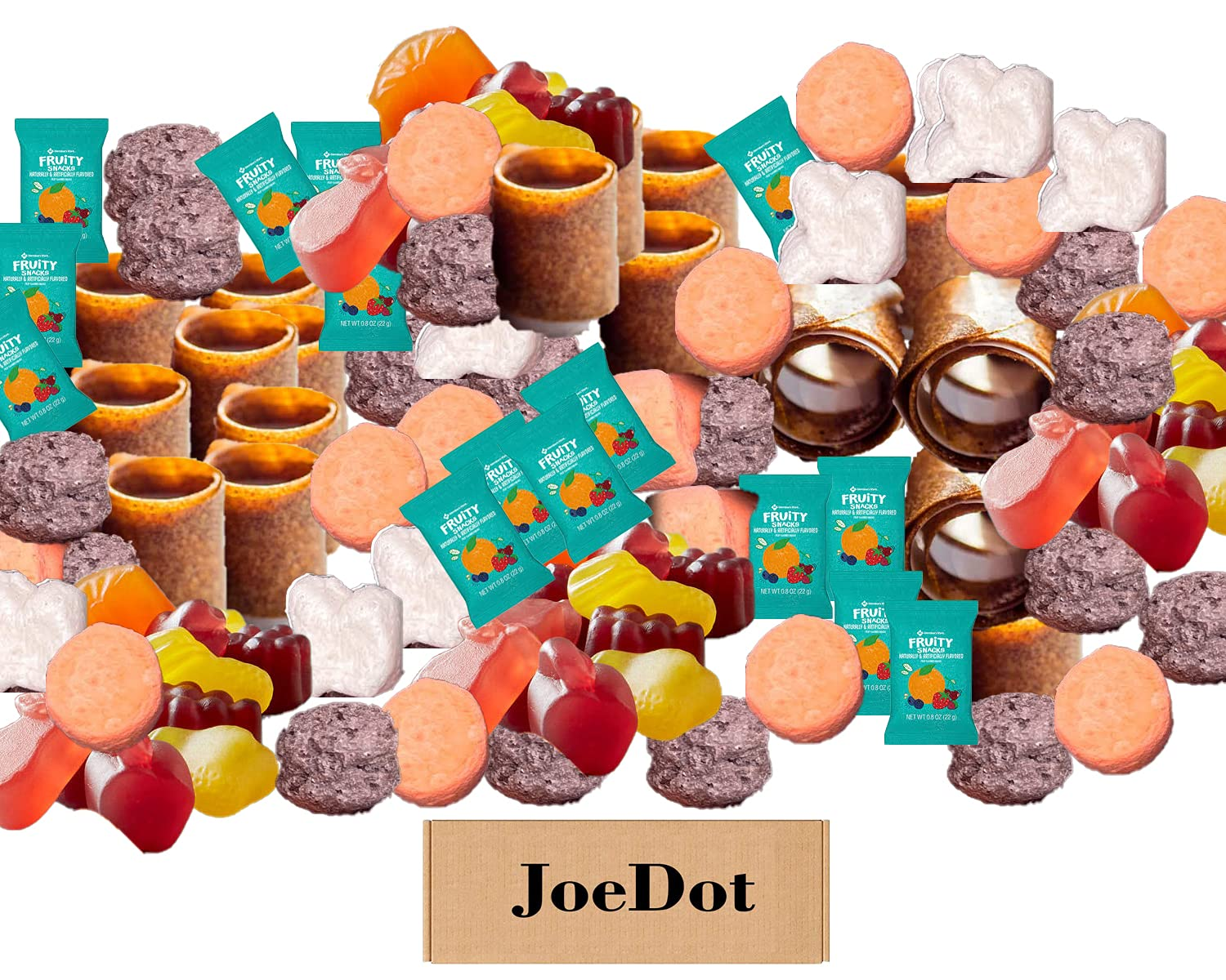 JOEDOT FRUIT SNACKS Dedication VARIETY PACK Complete Free Shipping Snacks 0.8 CONTAINS Fruity oz