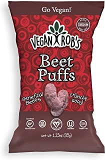 Vegan Rob's Puffs, Beet   Gluten-Free Snack, Plant Based, Vegan, Zero Trans Fats, Non GMO   3.5 Ounce Bags (6 Count)