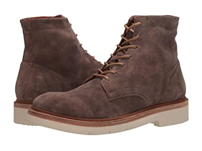 Frye Bowery Weekend Lace-Up (Faded Grey Two-Tone Suede) Men