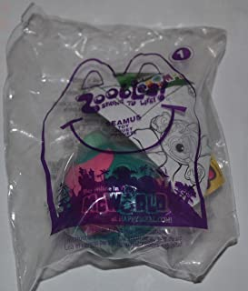 Happy Meal Zoobles Seamus Toy #1, Green/Pink