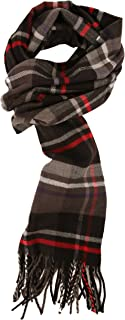 Men's Cashmere Feel Winter Plaid Scarf & Buffalo Check Scarves