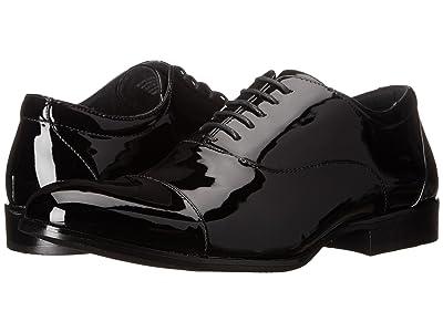 Stacy Adams Gala Cap Toe Oxford (Black Patent) Men