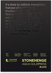 Stonehenge Aqua Black Pad, 140lb, Coldpress, 5 x 7 Inches, 15 Sheets
