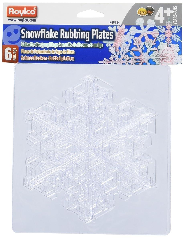 Roylco Snowflake Rubbing Plates