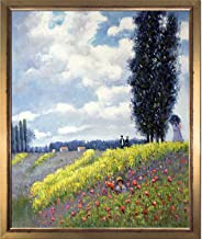 overstockArt Walk in The Meadows at Argenteuil by Monet with Burnished Gold Frame