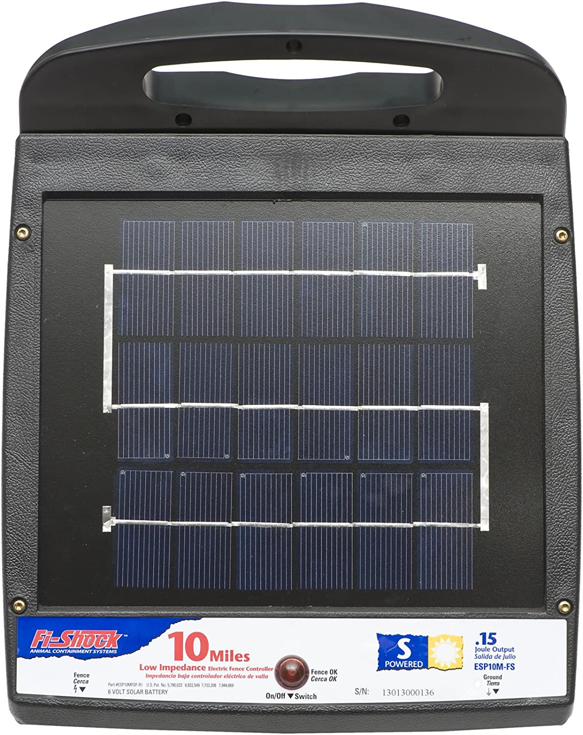 Fi-Shock ESP10M-FS National products 10-Mile Dedication Solar Powered Electric Low Impedance