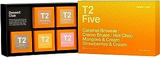 T2 Tea - Dessert Club Assorted Tea Sampler Gift Box, 5 Loose Leaf Black Tea Packs, 165g (5.8oz)