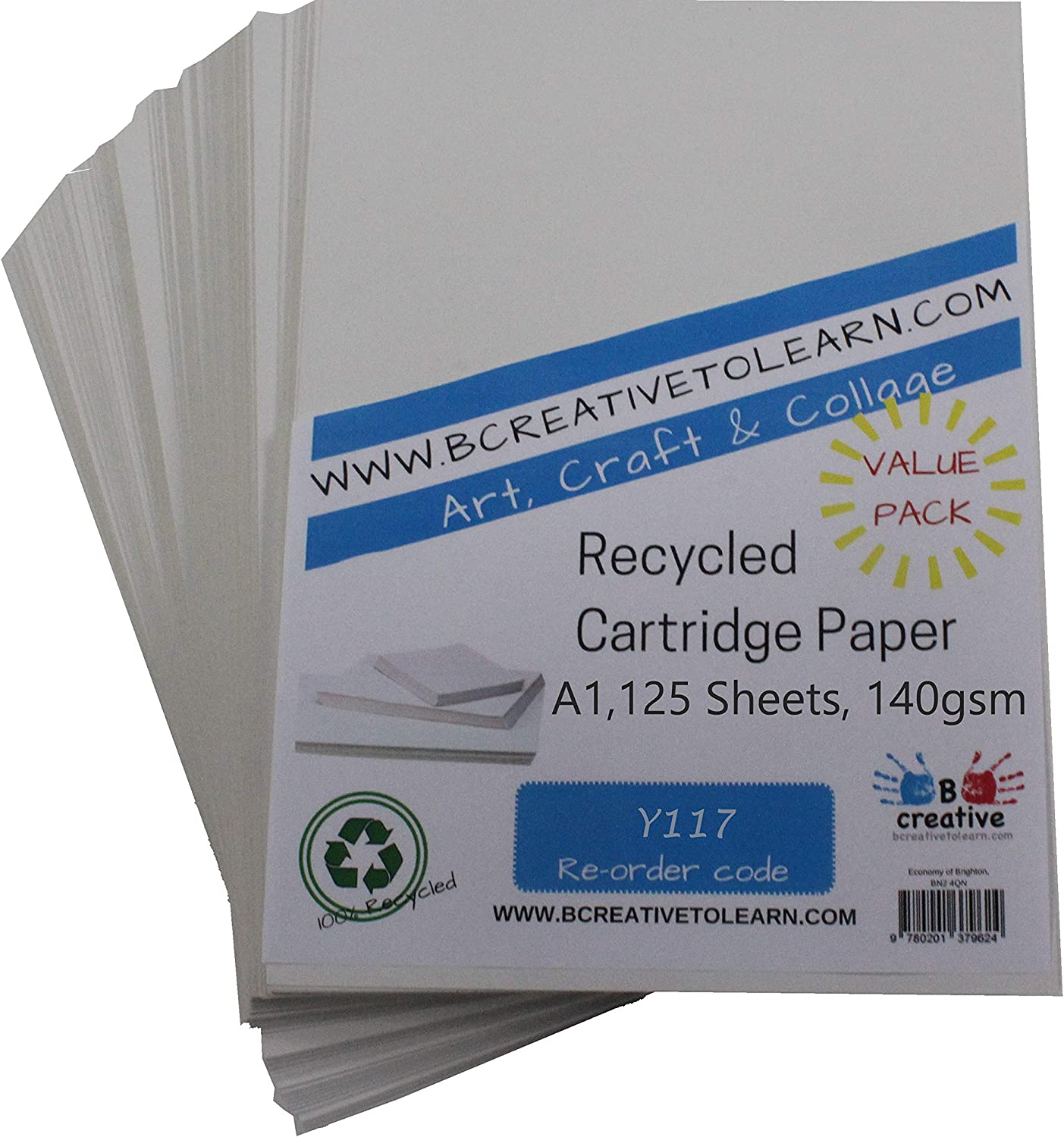 Award-winning store BCreativetolearn Y117 100% Japan's largest assortment Eco Recycled White A1 P Cartridge Art
