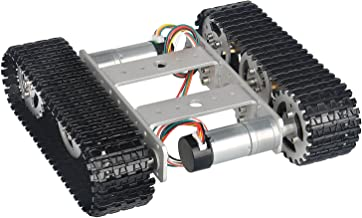 Tracked Robot Assembled Smart Car Platform Aluminum Alloy Chassis with Dual DC 9V Motor for Arduino Raspberry Pi DIY