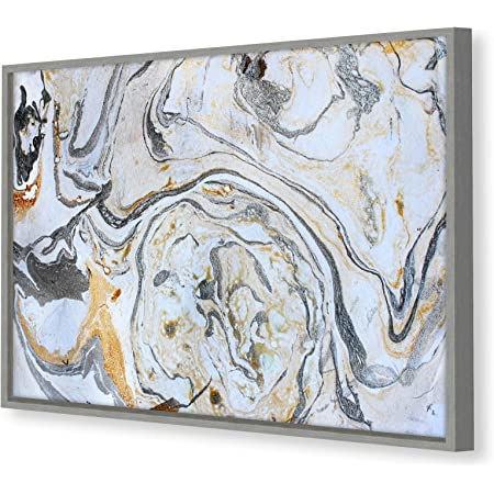 Grey Brown White Black Marble Abstract Black Framed Wall Art Picture Prints Amazon Co Uk Kitchen Home