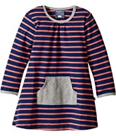 Toobydoo - Orange Stripe Pocket Dress (Infant/Toddler)