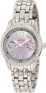 Women's Eco-Drive Watch with Swarovski Crystal Accents,...