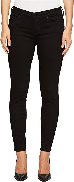 Liverpool - Petite Abby Skinny Perfect Black Jeans in Black Rinse
