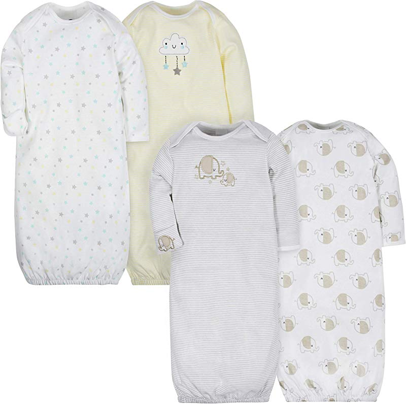 Gerber Baby Girls 4 Pack Gown