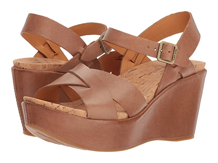 Vintage Heels, Retro Heels, Pumps, Shoes Kork-Ease Ava 2.0 Golden Sand Womens Wedge Shoes $144.95 AT vintagedancer.com