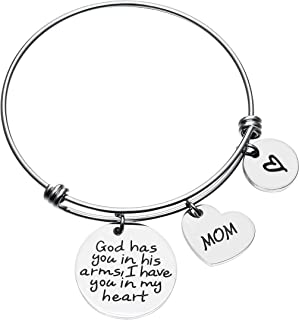 Girl's Gift Parents Memorial Jewelry Loss of Dad/Mom Sympathy Stainless Steel Wire Bangle Bracelet