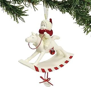 "Department 56 Snowbabies ""Peppermint Pony, 2018"" Porcelain Hanging Ornament, 3.625"" (6001888)"