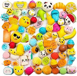 WATINC Random 20 pcs Squishys Cream Scented Kawaii Simulation Lovely Toy Medium Mini Soft Food squishys, Phone Straps (20P Donuts)