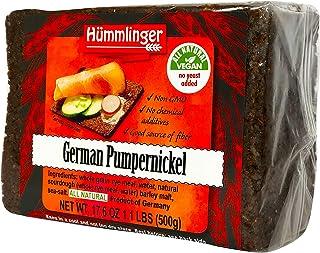 German Pumpernickel Bread Yeast Free Hummlinger, No Yeast Added 17.6oz (6 packsages)