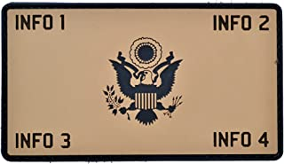 Custom PVC Army Eagle Crest Plate Carrier - 2.25x4 PVC Flak Patch