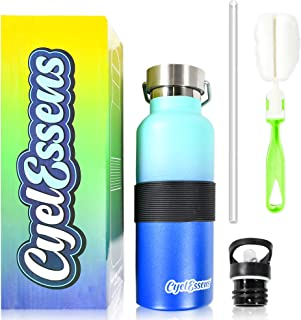 CyelEssens Bouteille d'eau Isotherme en Acier Inoxydable 500mL-Gourde Réutilisable, Double Paroi, sans BPA, Conserve la Ch...