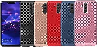 Huawei Mate 20 Lite Isı Dağılımlı Delikli Sert Kılıf (Kırmızı)
