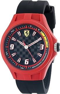 Ferrari Men's 0830006 Pit Crew Analog Display Quartz Black Watch