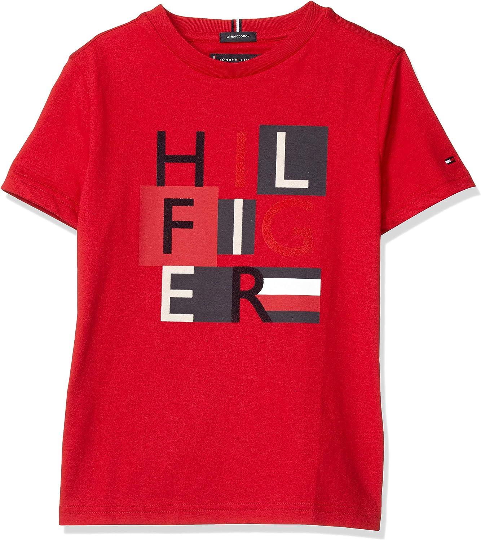 Tommy Hilfiger Dg MSW Squares tee S/S Camiseta para Niños