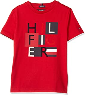 Tommy Hilfiger Dg MSW Squares Tee S/S Maglietta Bambino