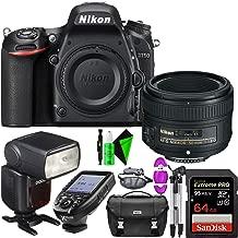 Nikon D750 DSLR Camera (Body Only) + Nikon 50mm 1.8G AF-S Lens + 64GB PRO Memory Card + GODOX Flash (TTL) with Built-in Receiver + TTL Wireless Transmitter