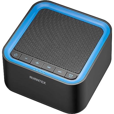 AVANTEK 快眠グッズ ホワイトノイズマシン USB給電 20種のサウンド 30段階の音量幅調整 タイマー付き 快適な入眠に 高品質スピーカー メモリー機能 赤ちゃん 大人 旅行 勉強 仕事 昼寝適応 ブラック