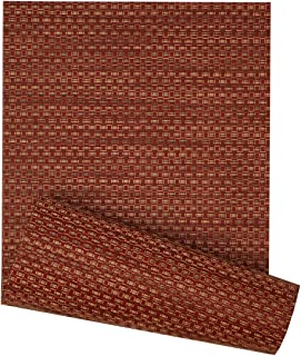 Sweet Pea Linens 72 inch Redwood (Brick and Tan) Wipe Clean Table Runner