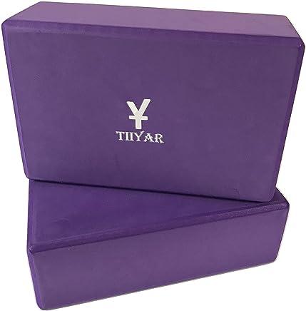 Tiiyar Yoga Block - 2 Pack EVA Foam Block,3 inch