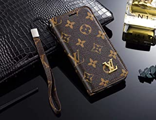 Phone Case for Galaxy S9 Plus, Vintage Luxury Designer Monogram Fashion Style Flip Wallet Case Card Holder, Folding Stand Protective Cover for Galaxy S9 Plus